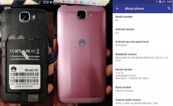 Huawei Clone S2 Flash File