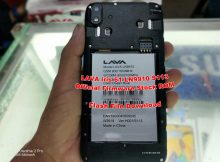 Lava Iris 61 LN9910 Flash File