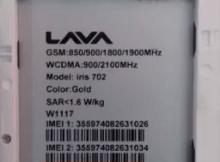 Lava Iris 702 Flash File