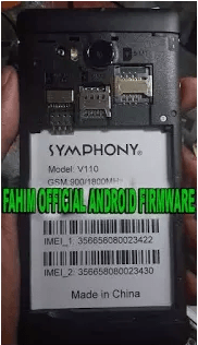 Symphony V110 Flash File