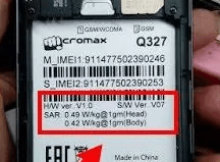 Micromax Q327 Flash File