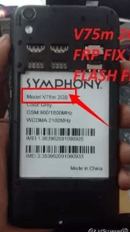 Symphony V75m 2GB Flash File