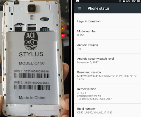 Aci Stylus Q150 Flash File