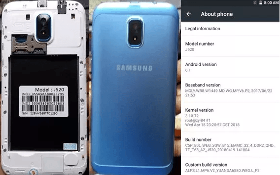 Samsung Clone J520 Flash File