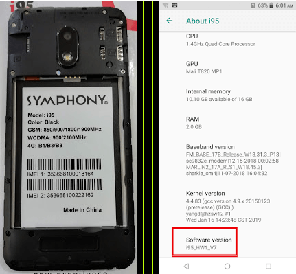 Symphony i95 Flash File