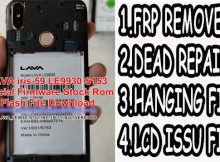 Lava iris 59 LE9930 Flash File Firmware
