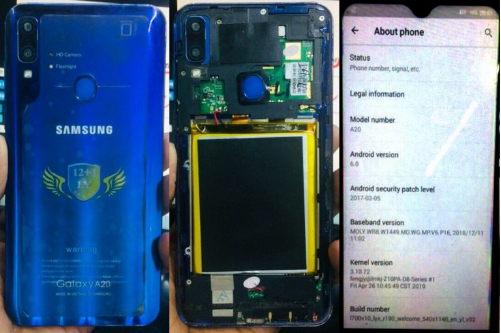 Samsung Clone Galaxy A20 flash file